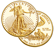 1-ounce Gold American Eagles