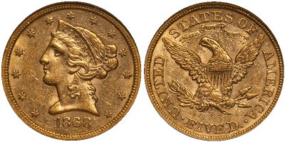 May17 1868 AU58 F